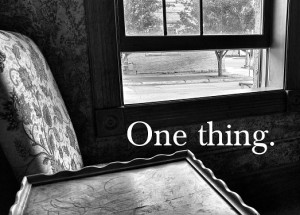 One thing.